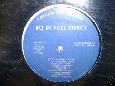 """BQ IN FULL EFFECT Soul Power 12"""" RANDOM RAP FAST RAP"""