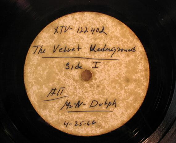 VELVET UNDERGROUND & NICO 1966 Acetate LP ANDY WARHOL