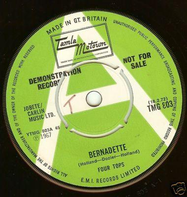 FOUR TOPS-BERNADETTE-ON TAMLA MOTOWN DEMO