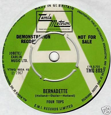 THE FOUR TOPS - RARE UK DEMO - TMG803 - BERNADETTE