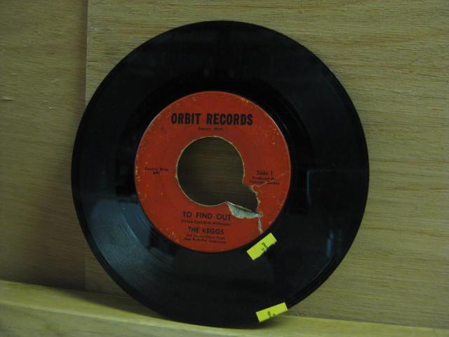 the Keggs ORIG garage punk 45--To Find Out--Orbit--hear