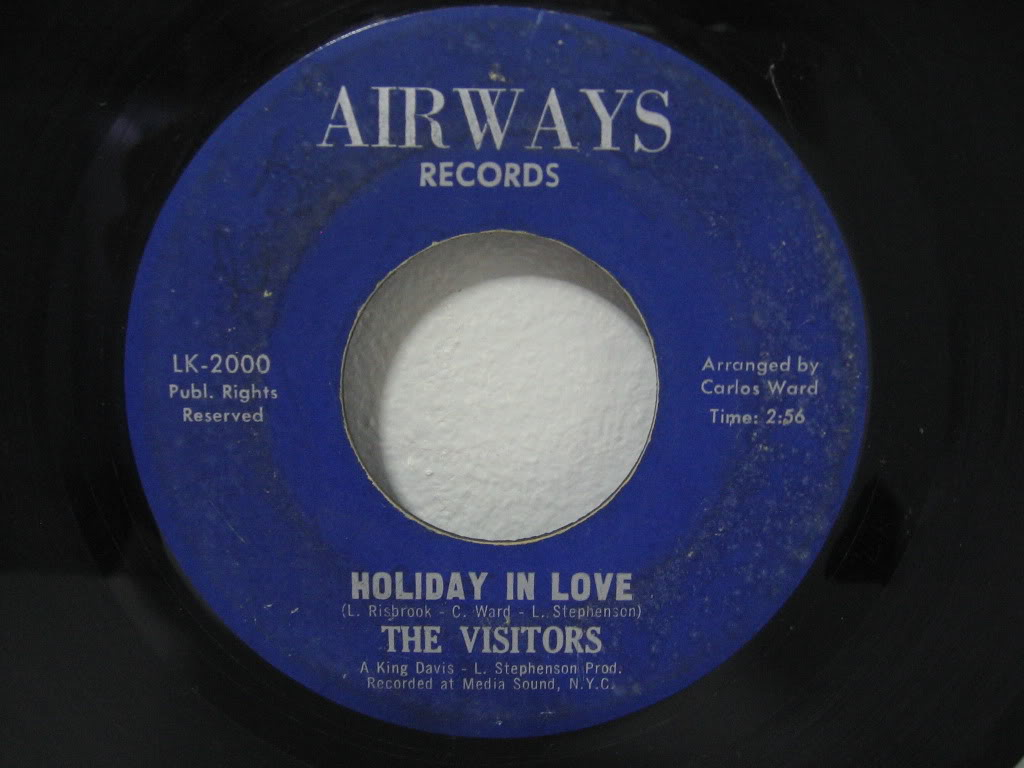 THE VISITORS Holiday In Love  ISLANDS FUNK 45
