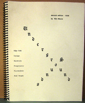 Psych,Prog,Garage RON MOORE UNDERGROUND SOUNDS 2nd ed.
