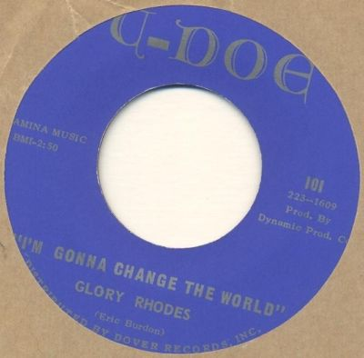 GLORY RHODES*out of my way / gonna change the world*GARAGE PSYCH*us orig*LISTEN