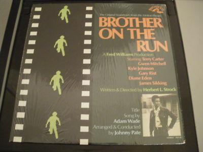 RARE ORIGINAL COPY JOHNNY PATE-BROTHER ON THE RUN OST PERCEPTION 1973 LP EX+/EX-